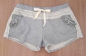 Resultado de imagem para conjunto de de blusa e shorts de moletom