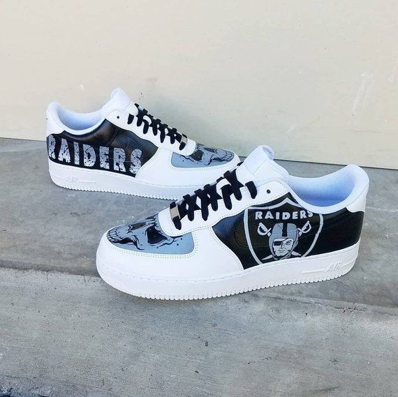 Custom Raiders Nike Air Force 1 Low | Zapatos jordan para