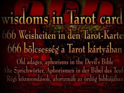 TAROT BOOK * The Devil * 666 wisdoms in Tarot cards - by Eva Ilona - YouTube