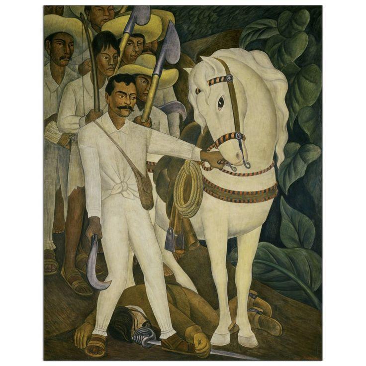 RIVERA - Agrarian Leader Zapata 60x76 cm #artprints #interior #design #art #prints  Scopri Descrizione e Prezzo http://www.artopweb.com/EC21742