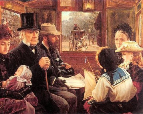 An Omnibus Ride To Piccadilly Circus - Mr. Gladstone Travelling With Ordinary Passengers
