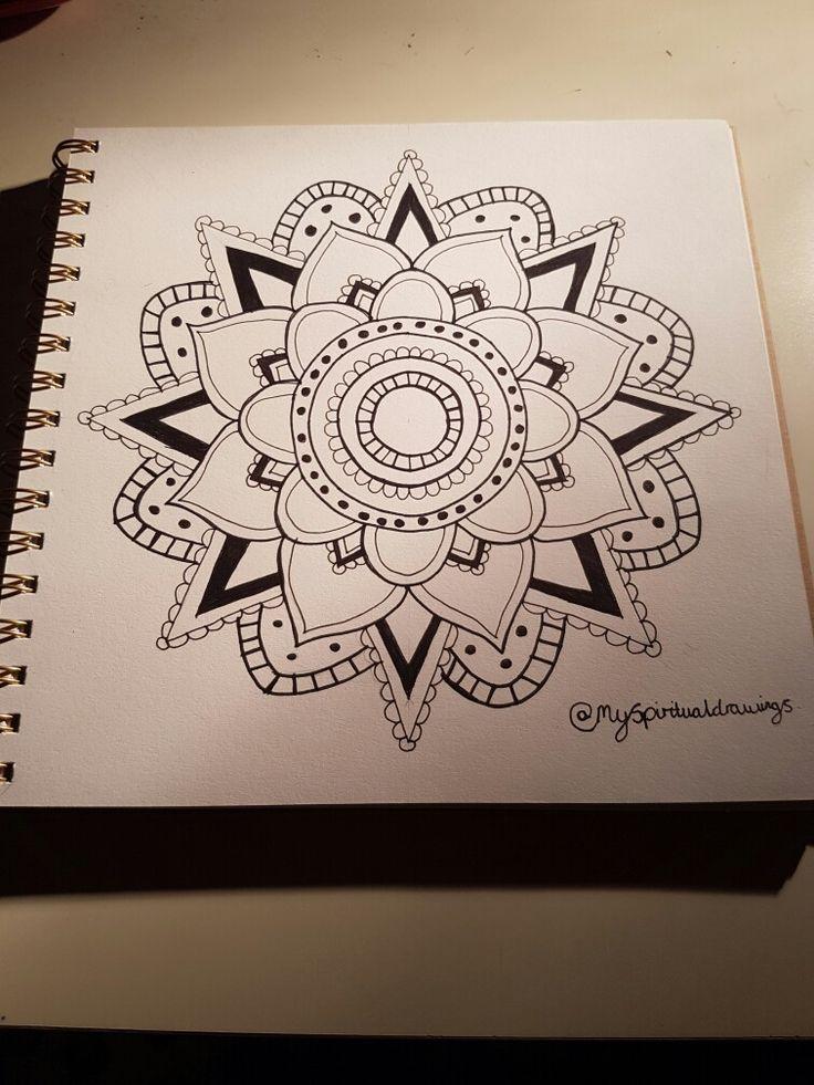 Simple mandala #simple #mandala #drawing #art #pretty #indian #spiritual #black #white