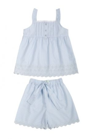 Blue pin stripe cami set : for my girl