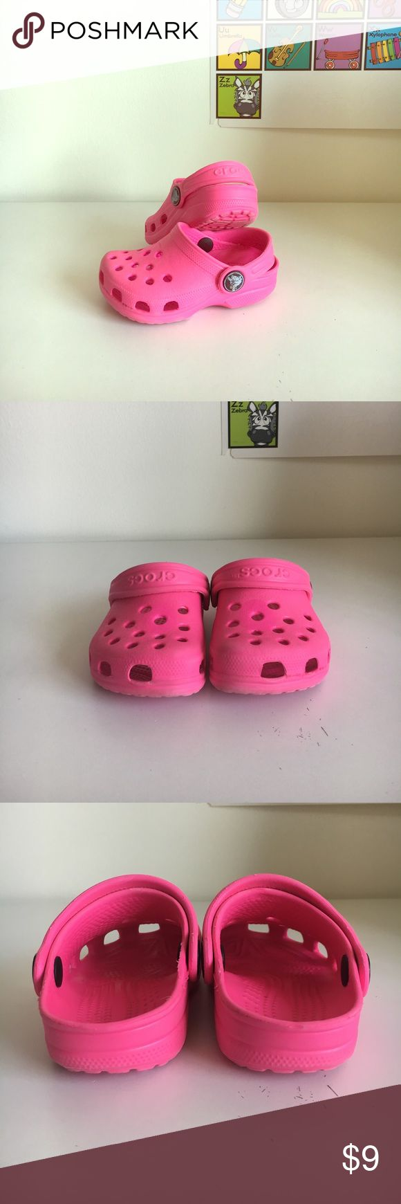 Crocs children's 4-5 good condition! Almost new! Crocs children's 4-5 good condition! Almost new! Why buy new when the kids grow sooo fast!!! Just purchase add on to customize the pair :) Shoes Sandals & Flip Flops