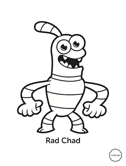 gonoodle monsters coloring pages - photo#6