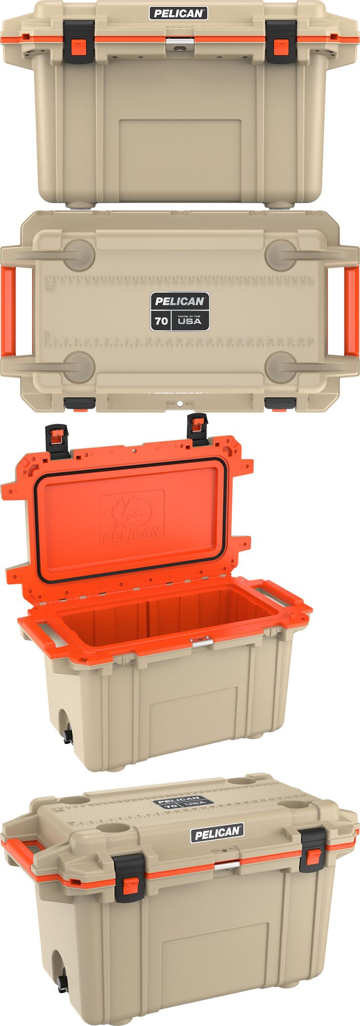 Camping Ice Boxes and Coolers 181382: Pelican Products 70 Quart Cooler Tan Orange 70Q-2Tanorg -> BUY IT NOW ONLY: $329 on eBay!