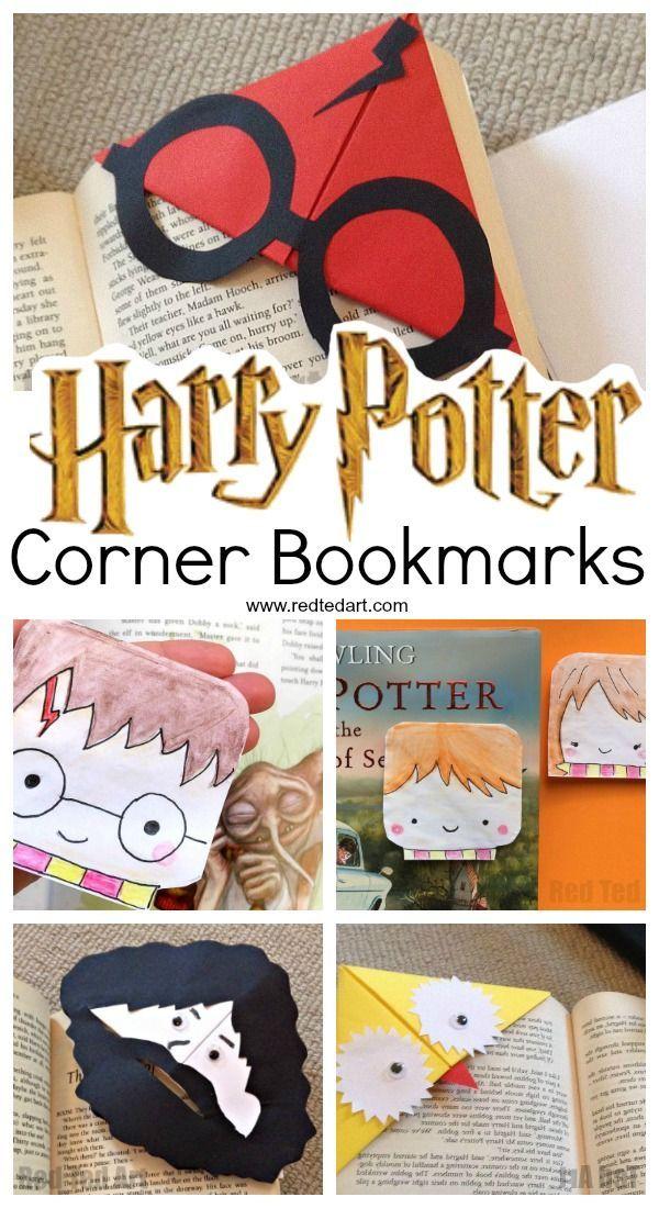 Harry Potter Corner Bookmarks Harry Potter Activities