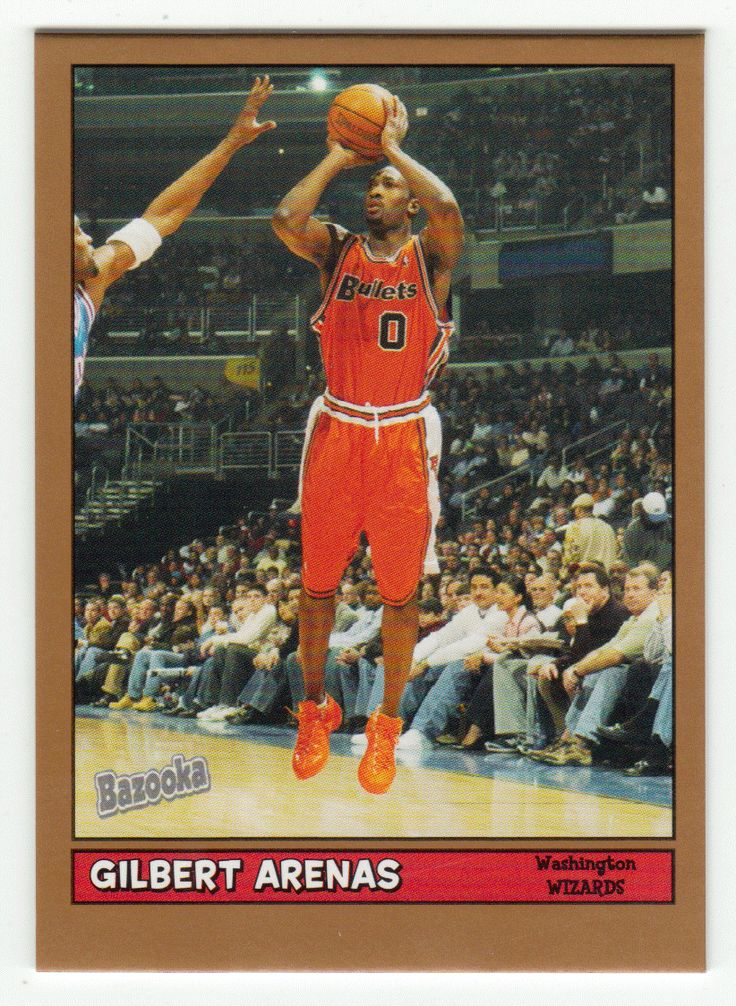 Gilbert Arenas # 1 - 2005-06 Topps Baz Basketball Gold