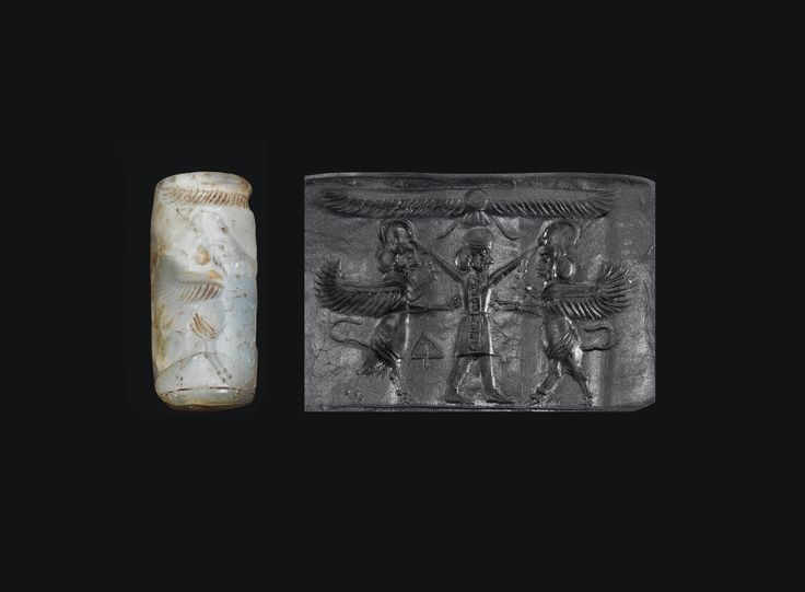 AN ACHAEMENID BANDED AGATE CYLINDER SEAL CIRCA LATE 6TH-5TH CENTURY BC, Christies Auction.