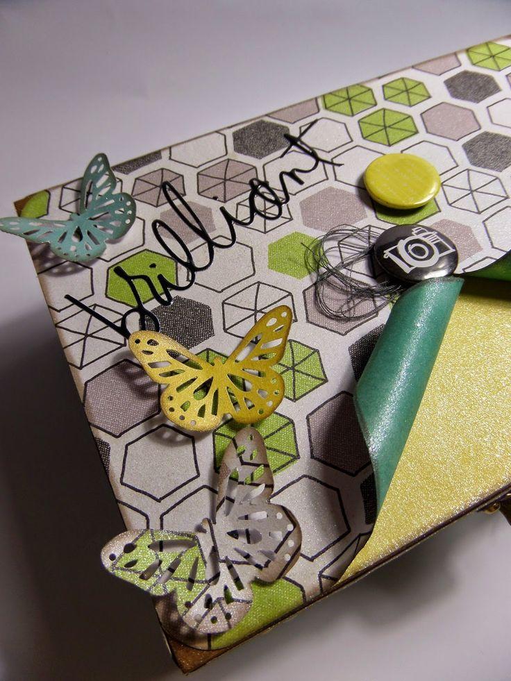 Mad Scrap Project: Inspírate Plus One: Home Decor con La Hora del Scrapibuki #scrapbooking #inspirate #madscraproject #plusone