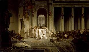 March 15, 44 BC – Julius Caesar, Dictator of the Roman Republic, is stabbed to death by Marcus Junius Brutus, Gaius Cassius Longinus, Decimus Junius Brutus and several other Roman senators on the Ides of March.