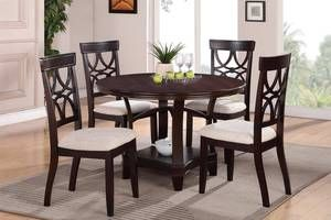 Espresso Dining Table Chairs Set F2195 428 For The Set Dream Home