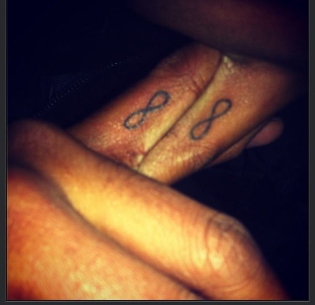Got matching tattoos with the love of my life <3 #ringfingertattoos