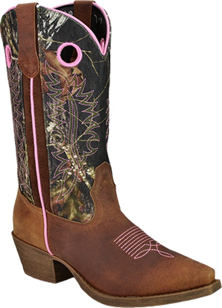 Camo+Cowgirl+Boots+for+Women | ... John Deere Western Boots Womens Leather Cowboy Tan Camo Pink JD3746