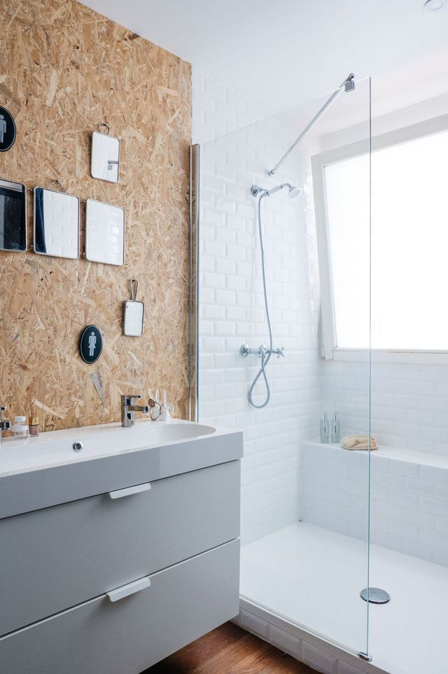 159 best Salle de bain images on Pinterest - Comment Decorer Un Grand Mur