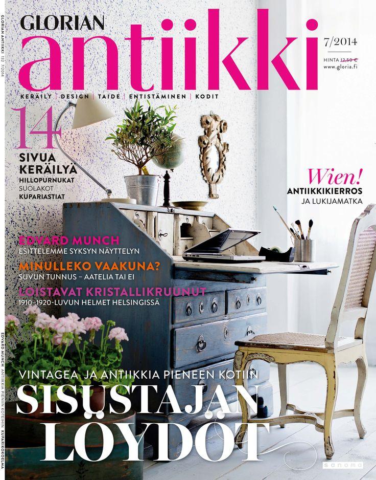 Magazine cover 7/214. Cute rococo desk suits well even to a small study. Photo: Tuomas Kolehmainen.