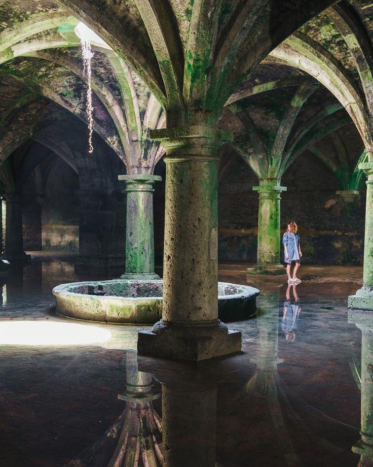"Travellers • Olga + GreG on Instagram: ""Cistern in El Jadida is a hidden underground gem which you should visit #peaceful #empty #underground #gem #space #water #explore #ruins…"""