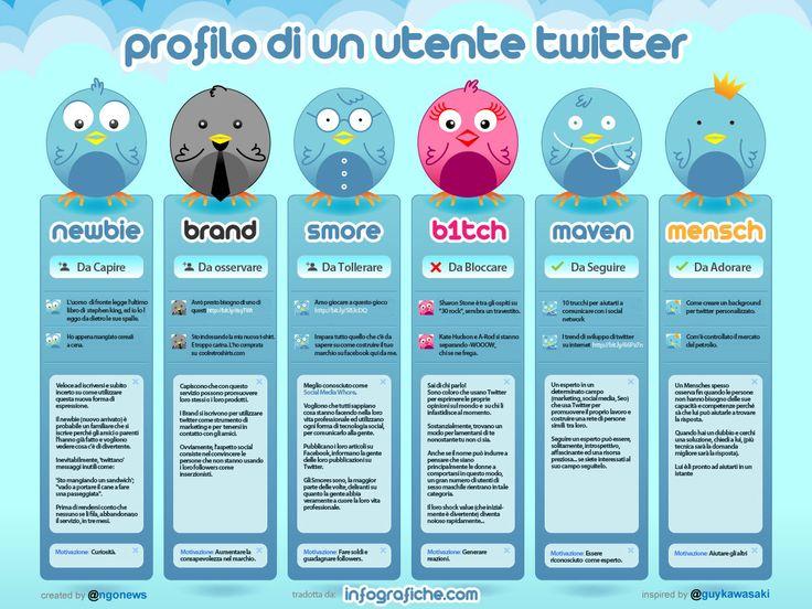 Profilo di un utente Twitter, e tu chi sei?
