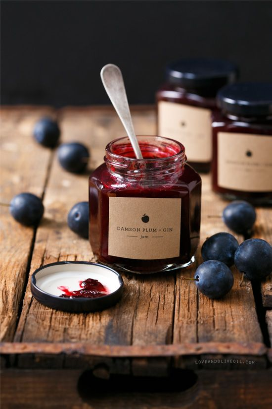 Damson Plum & Gin Jam | Love and Olive Oil @Lindsay Dillon Dillon Landis (Love & Olive Oil)