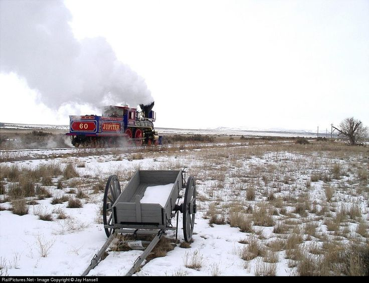 RailPictures.Net Photo: CP 60 Central Pacific Railroad Steam 4-4-0 at Promontory, Utah by Jay Hansell
