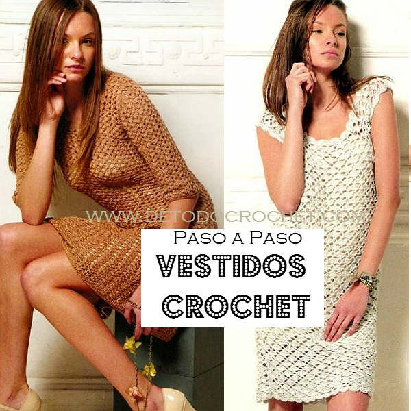 Dresses Crochet in Color Camel and Ivory / Stepper | all crochet