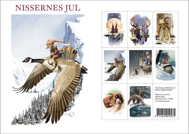 The most beautiful christmas cards I have ever seen. From Koustrup & co