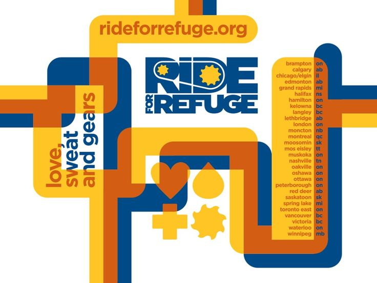 Ride for Refuge - participating cities