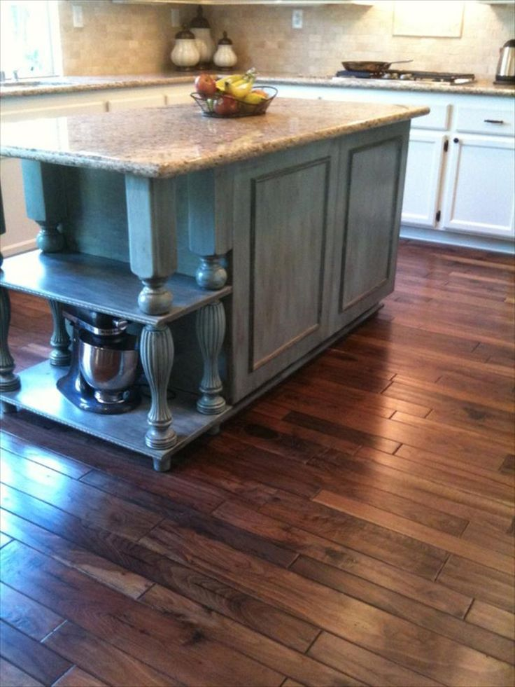 Engineered Hardwood Handscraped Mixed Widths Collection Kitchen Colors Islands And Rustic