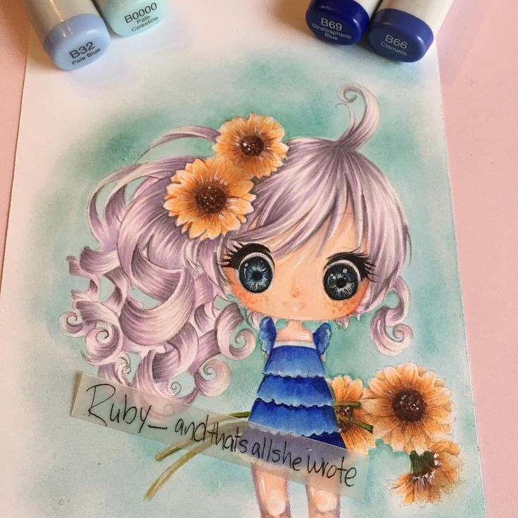 Ruby Montes,  and that's all she wrote,  Copics, copic sketch,  Make it Crafty, Faye Sunflowers digi, http://rubyonlywrote.blogspot.com/