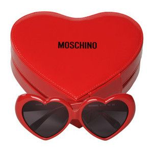 Moschino Heart-Shaped Sunglasses <3