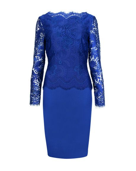 I foy'd like to leave everyone speechless go for a combination of cobalt and sheer top. Our choice is Ted Baker and his Vendela ($325). This dress is an investment for years to come!