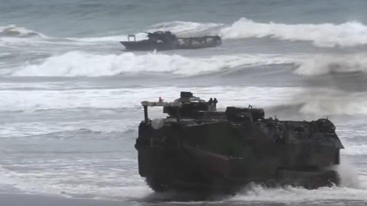 El cuerpo de Marines estadounidense ha probado cerca de 50 armas de alta tecnología, incluidos ametralladoras cargadas con robots inteligentes capaces de portar hasta 300 kilogramo