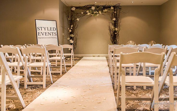 The Raffles Room set for a ceremony