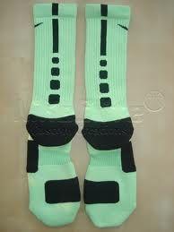basketball nike socks mint and black - Google Search