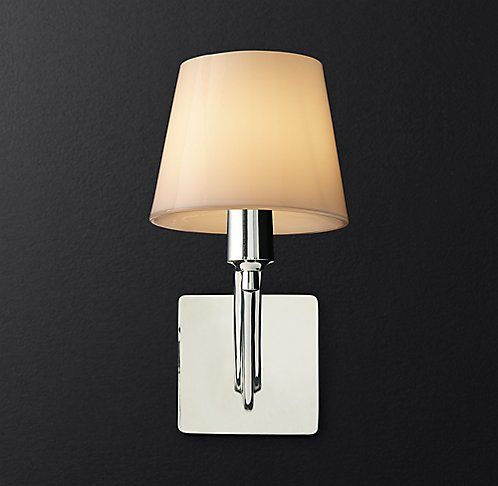 Reid single sconce with glass shade