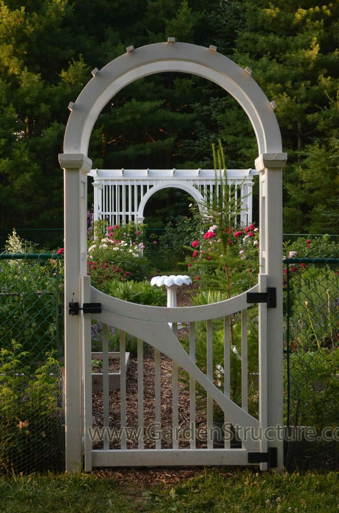 Laminated Arched Garden Arbor With Gate Garden Arbor With Gate