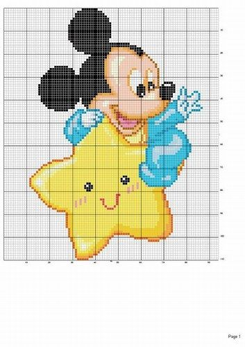 Schemi punto croce disney - Disney 5