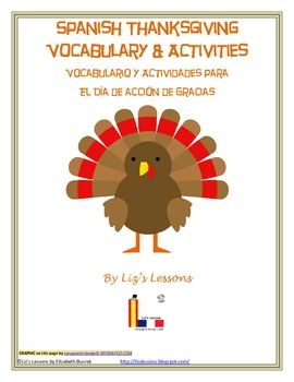 Looking for a fun activity for your Spanish class for the days before Thanksgiving?