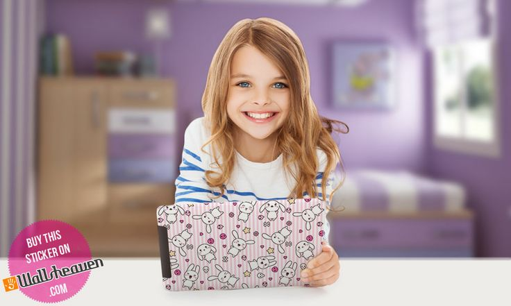 Girl with iPad. Certainly playing Angry Birds ;)  #Sticker designed by Wallsheaven.com