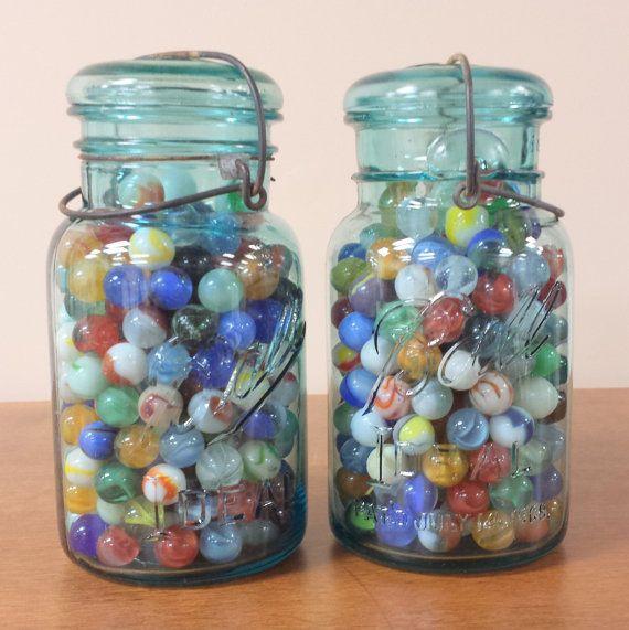25+ unique Blue mason jars ideas on Pinterest