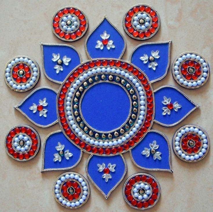 574 best rangoli images on pinterest for Door rangoli design images new