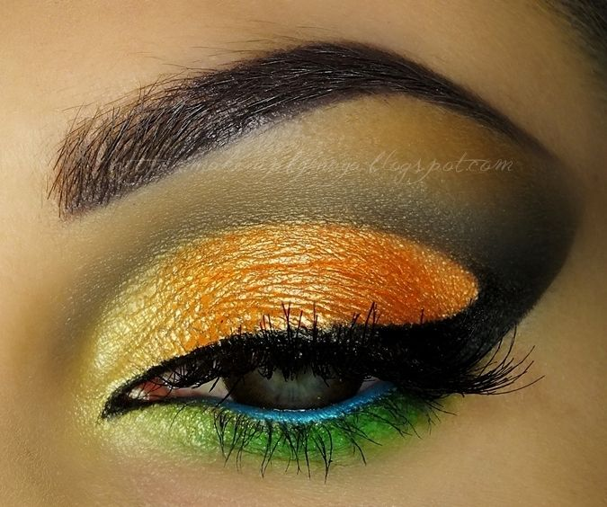 Bunte Augen-Make-up-Ideen für den Frühling