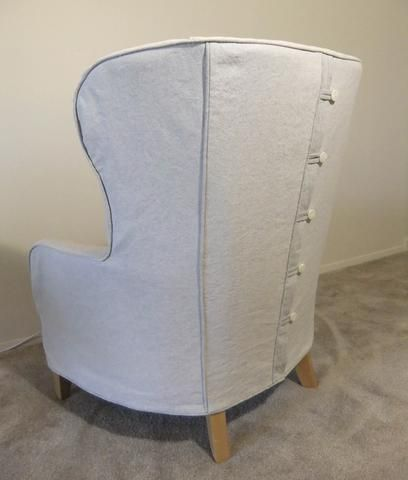 Bonanza Wing Chair Slipcover by Karen's Custom Slipcovers — SlipcoverFabrics.com