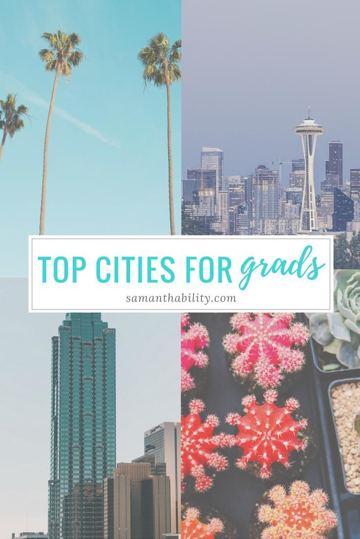 Top cities for recent graduates based on career opportunities, cost of living, and percentage of millennals.