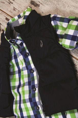 Καρό πουκάμισο και μπλε jacket <3 #boysfashion #kidswear #babyboy