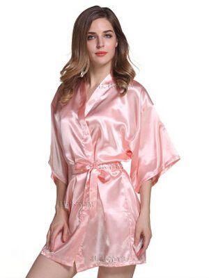 RB030 Sexy Grande Taille Sexy Satin Nuit Robe Dentelle Peignoir Parfait De Mariage Mariée de Demoiselle D'honneur Robes Robe de Chambre Pour Les Femmes