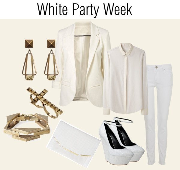 """white party week"" by cocochristelle on Polyvore"