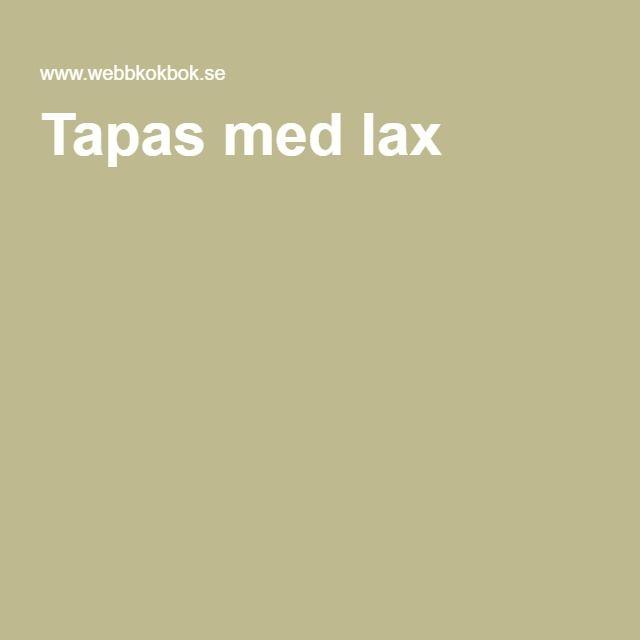 Tapas med lax
