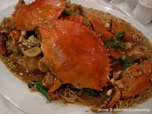 Classic Chinese mudcrab and noodle dish at Chun Po.  http://blog.posse.com/2013/06/26/wok-the-casbah-8-of-the-best-asian-restaurants-in-melbourne/