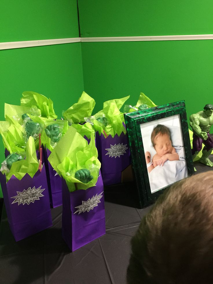 Incredible Hulk themed first birthday party